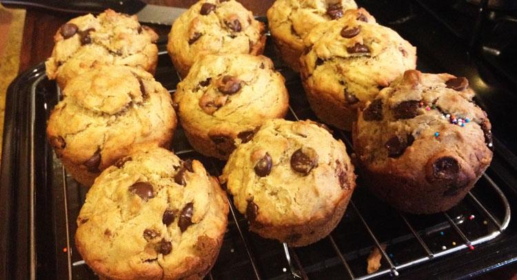 muffin-banane-chocolat